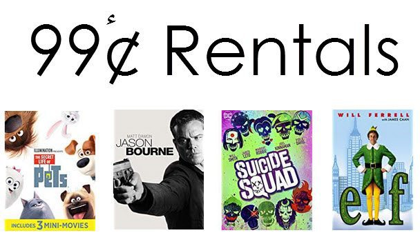 Amazon Instant Video Rentals only 99¢ Each - Secret Life of Pets, Suicide Squad, and More