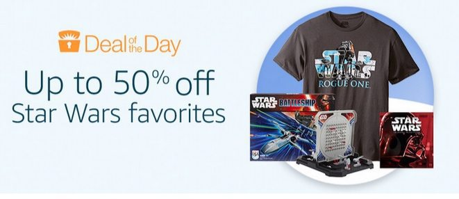 Up to 50% Off Star Wars Favorites **Today Only**