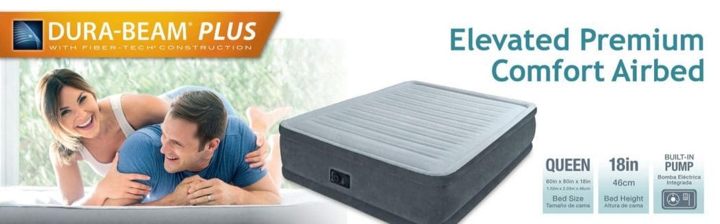 Intex Comfort Plush Elevated Dura-Beam Queen Airbed $34.99 (Was $80) **Today Only**