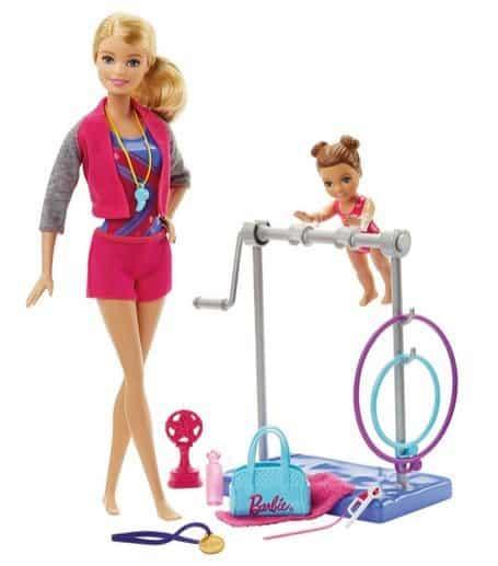 Barbie Gymnastic Coach Dolls & Playset $16.39