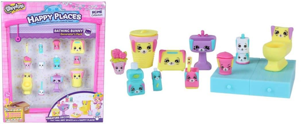Happy Places Shopkins Decorator Pack Bathing Bunny Only $4.98