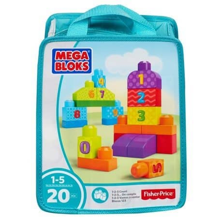 Mega Bloks 1-2-3 Count! Bag Only $5.49