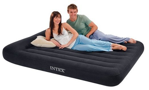 Intex Pillow Rest Classic Queen Airbed with Built-in Pillow and Electric Pump $19.99 **Today Only**