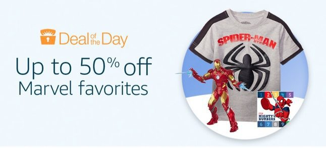 Up to 50% Off Marvel Favorites **Today Only**