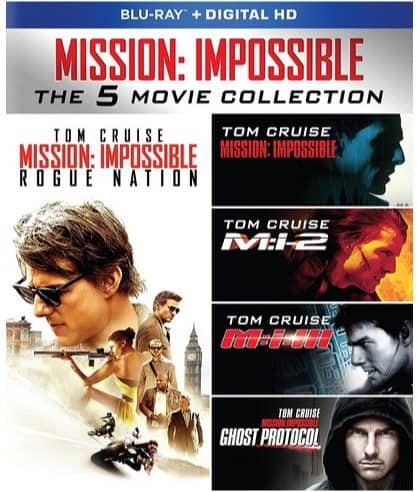 Mission: Impossible - The 5 Movie Collection on Blu-ray $19.99