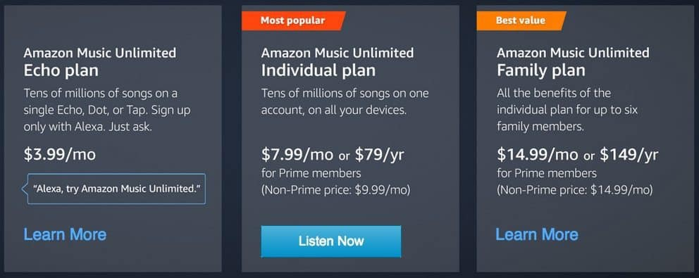 Get $10 Towards Amazon Music Unlimited **Today Only**
