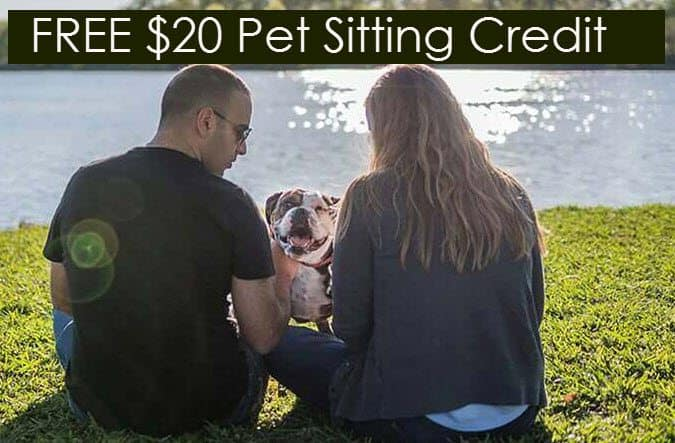 FREE $20 Credit for Pet Sitting, Boarding, and More