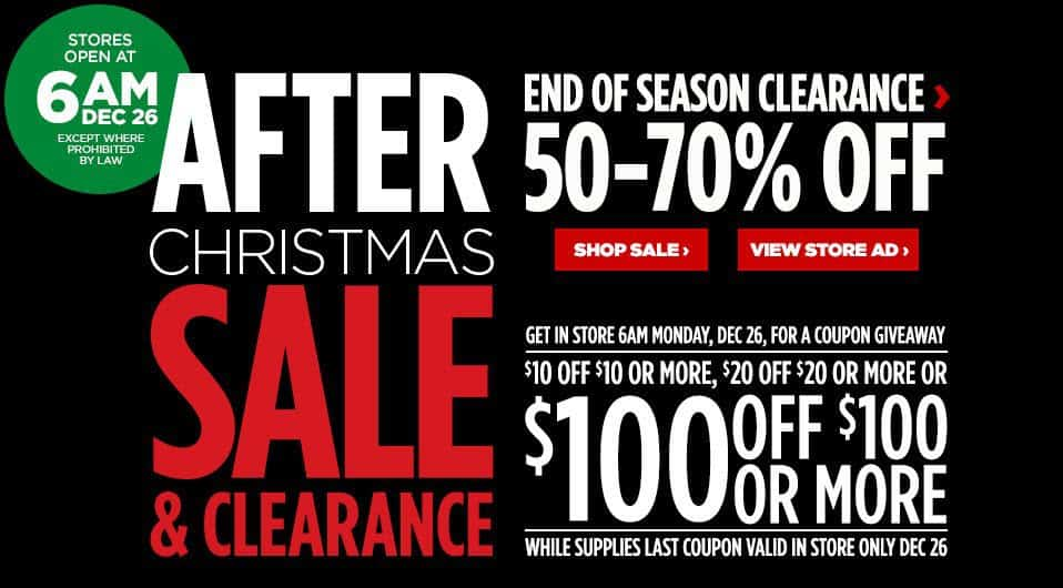 JCPenney After Christmas Clearance Sale: Save $10 off Any $25 Purchase