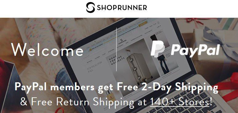 FREE ShopRunner Membership for Paypal Users **SUPER HOT**