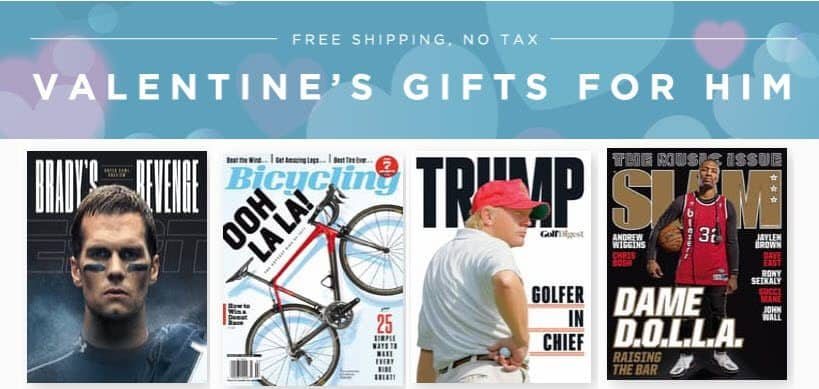 Sale on Magazines for Him ~ as low as 17¢ per issue