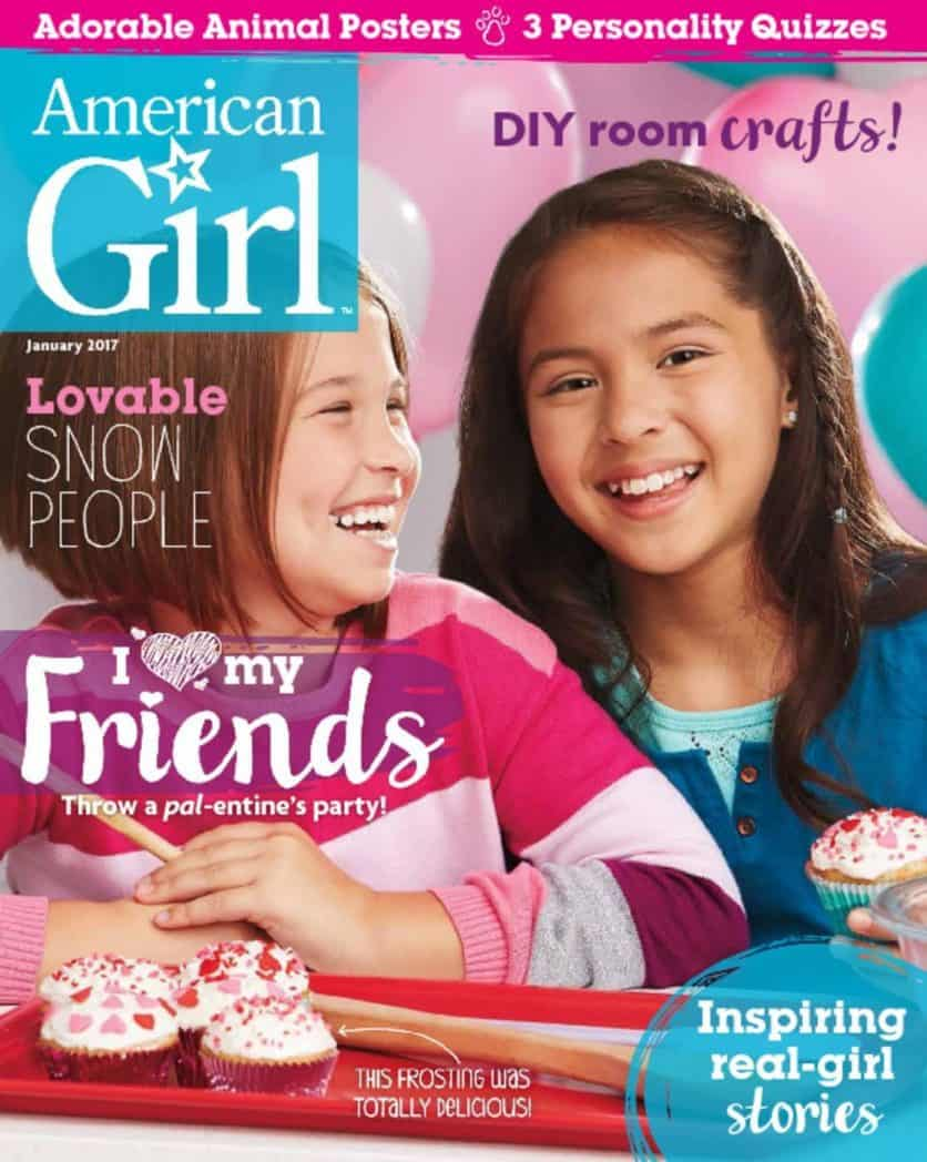 One Year Subscription to American Girl Magazine Only $13.95 - $2.33 Per Issue