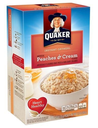 Quaker Instant Oatmeal Peaches & Cream (Pack of 4 ) $6.65 **Only $1.66 per box shipped**