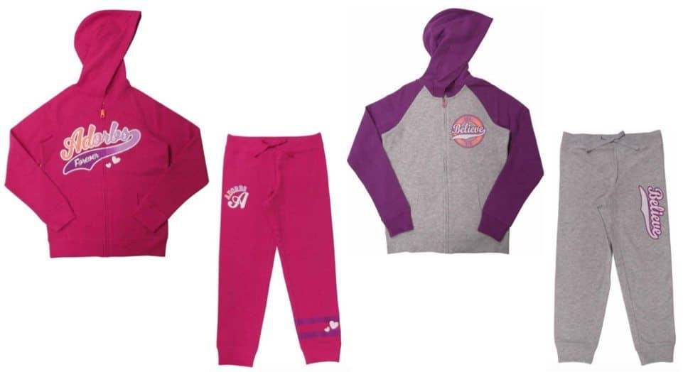 Danskin Now Girls' Graphic Fleece Hoodies Or Joggers Only $4.50 Each