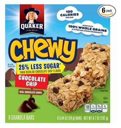 6 Quaker Chewy Granola Bars Boxes Only $7.71 Shipped **$1.29 Per 8-Count Box**