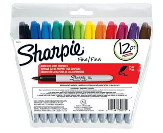 Sharpie Fine Point Permanent Markers 12 Count $3.82
