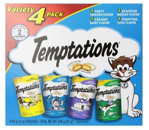 Temptations Classic Cat Treat Variety Pack $4.86 **Only $1.22 Each Shipped**