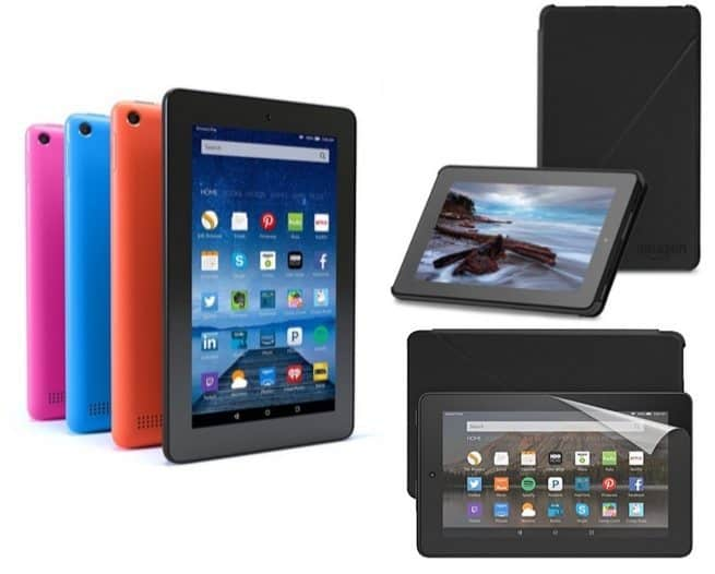 Amazon Fire Tablet Bundle with Special Offers, Cover, & Screen Protector Only $49.99