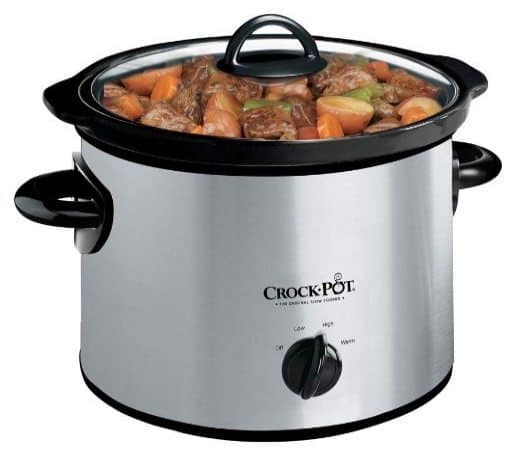 Crock-Pot 3-Quart Stainless Steel Manual Slow Cooker Only $14.99