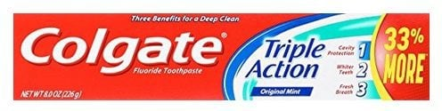 Colgate Triple Action Toothpaste 6 Pack $10.44 <br>(Only $1.74 Each Shipped)