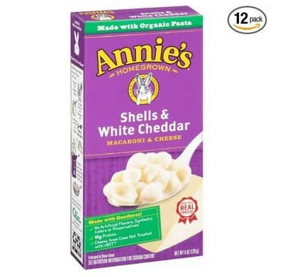 Annie's Shells & White Cheddar Macaroni & Cheese (Pack of 12) $9.29 **Only 77¢ per box shipped**