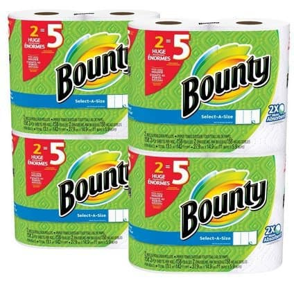 Bounty Select-a-Size Paper Towels Huge Roll 8 Count Only $13.99
