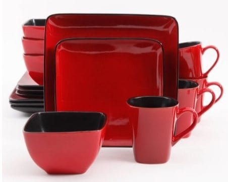 Better Homes & Gardens Rave 16-Piece Square Dinnerware Set $38.50 w/ Free Pick Up
