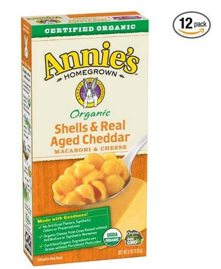Annie's Organic Shells & Real Aged Cheddar Macaroni & Cheese (Pack of 12) $9.75 **Only 81¢ Per Box**