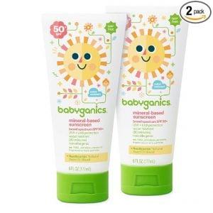 Babyganics Mineral-Based Baby Sunscreen Lotion, SPF 50, 6oz Tube (Pack of 2) $3.68 each