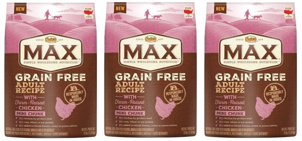 NUTRO MAX Grain Free Natural Adult Dry Dog Food $20.77 Shipped (Was $40)