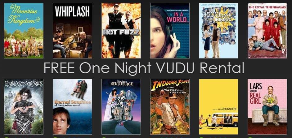 VUDU: FREE One Night Rental **HOT**