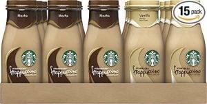 Starbucks Frappuccino, Mocha and Vanilla Flavors $1.28 per bottle