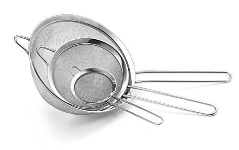 Culina Set of 3 Stainless Steel Mesh Strainers $7.99