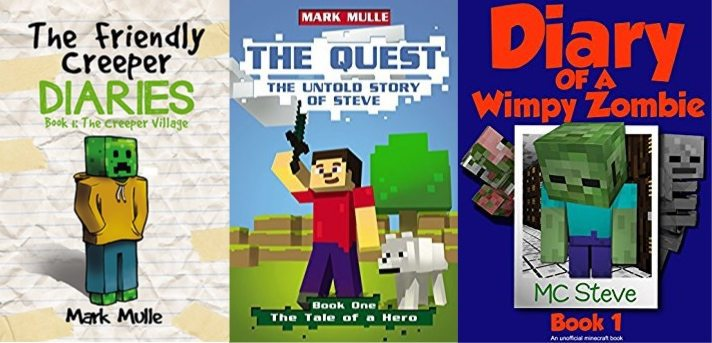 Huge Selection of FREE Minecraft Kindle Books
