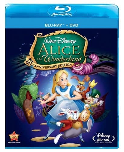 Alice In Wonderland Blu-ray Combo Only $9.99