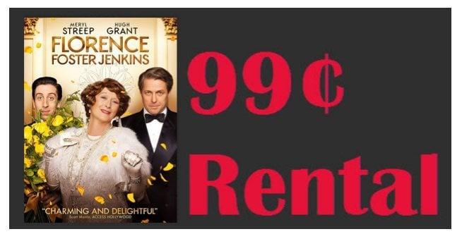 Florence Foster Jenkins Instant Video Rental Only 99¢ **Meryl Streep & Hugh Grant**