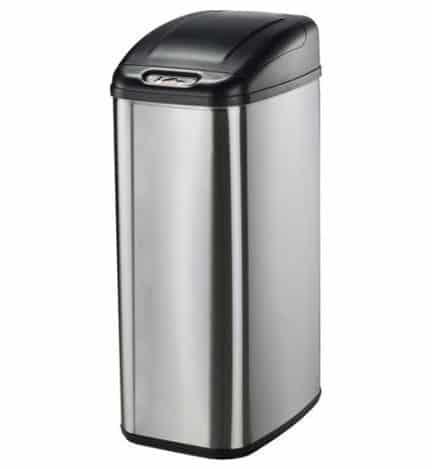 Nine Stars Motion Sensor Slim Touchless 13.2-Gallon Trash Can $39.96