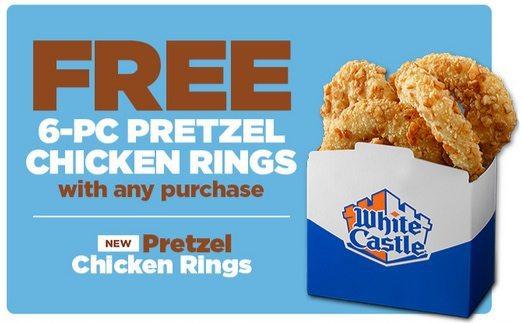 White Castle: FREE Pretzel Chicken Rings w/Purchase + BOGO Sweet Potato Fries or Fried Green Beans