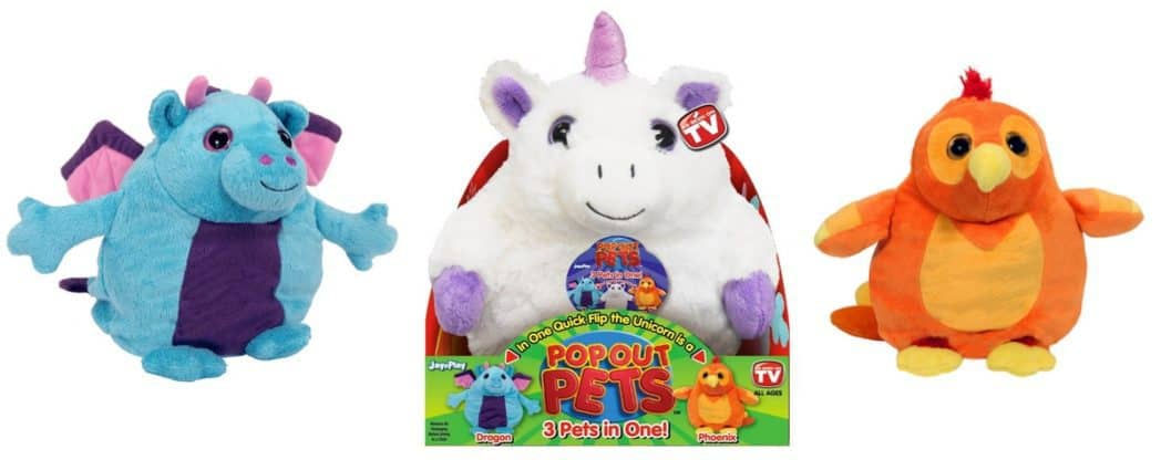 Pop Out Pets Fantasy Reversible Plush Toy ~ Get 3 Stuffed Animals in One Only $7.50 (Was $20)