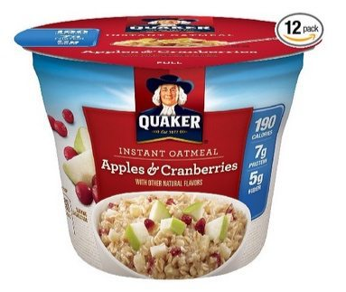 Quaker Instant Oatmeal Cups 12 Pack $8.82 Shipped **Only 74¢ Each**