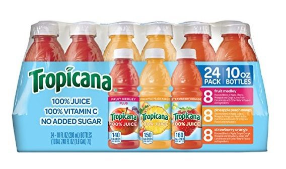 24-Pack Tropicana 100% Juice 3-Flavor Variety Pack $11.24 Shipped **Only 46¢ Each**