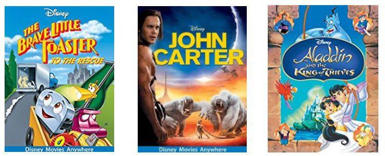 Disney Digital Movies $9.99 Each