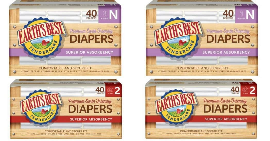 Earth's Best Diapers only 7¢ Each Shipped **HOT**