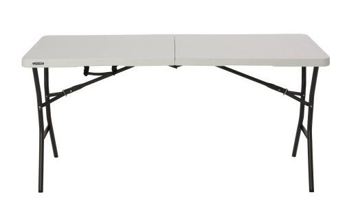 Lifetime 5' Essential Fold-in-Half Table Only $30.59