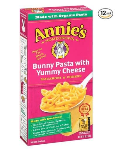 Annie's Bunny Shaped Macaroni & Cheese 12-Pack $9.51 **Only 79¢ Per Box**