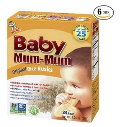 6 Boxes of Baby Mum-Mum Rice Rusks $6.47 **Only $1.08 Per Box**