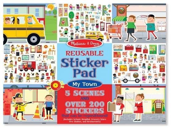 Melissa & Doug Reusable My Town Sticker Pad $4.24