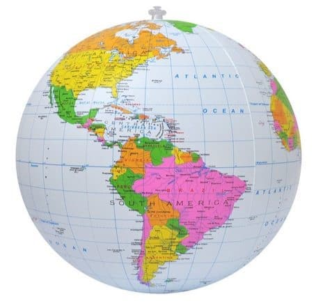 16-Inch Inflatable Political Globe Only $8.27