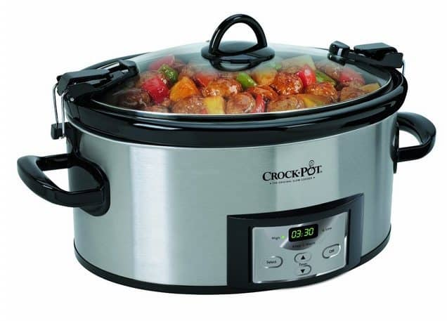 Crock-Pot 6-Quart Programmable Cook and Carry Oval Slow Cooker $34.30