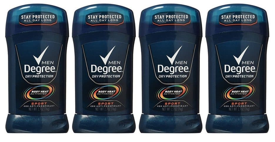 Degree Men Dry Protection Antiperspirant Deodorant Sport 4-Pack $5.90 **Only $1.48 Each Shipped**