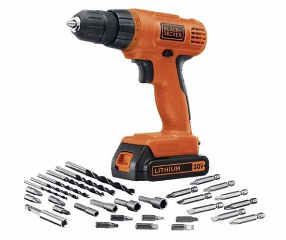 Black & Decker 20-Volt MAX Lithium-Ion Drill/Driver with 30 Accessories $41.99 **Today Only**